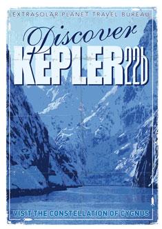 Exoplanet 02 Travel Poster KEPLER 22b 235px