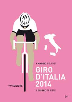 MY GIRO D'ITALIA MINIMAL POSTER 2014 235px