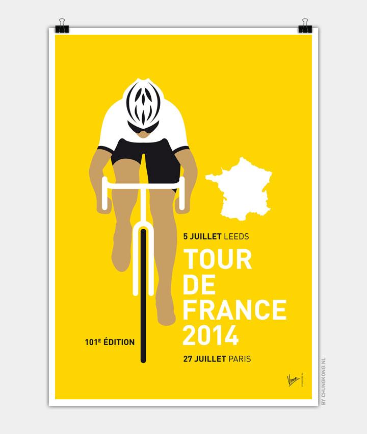MY TOUR DE FRANCE MINIMAL POSTER 2014 720px