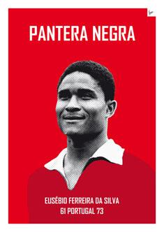 My Eusébio soccer legend poster235px