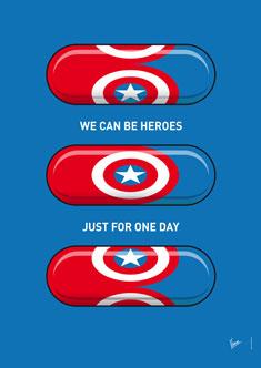 My SUPERHERO PILLS  Captain America 235px