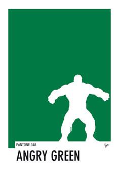 My Superhero 01 Angry Green Minimal Pantone poster 235px