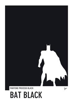 My Superhero 02 Bat Black Minimal Pantone poster 235px
