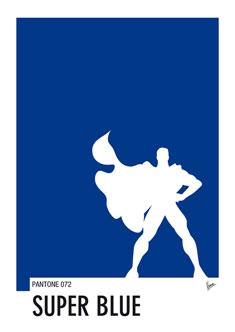 My Superhero 03 SuperBlue Minimal Pantone poster 235px