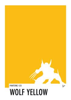My Superhero 05 Wolf Yellow Minimal Pantone poster 235px