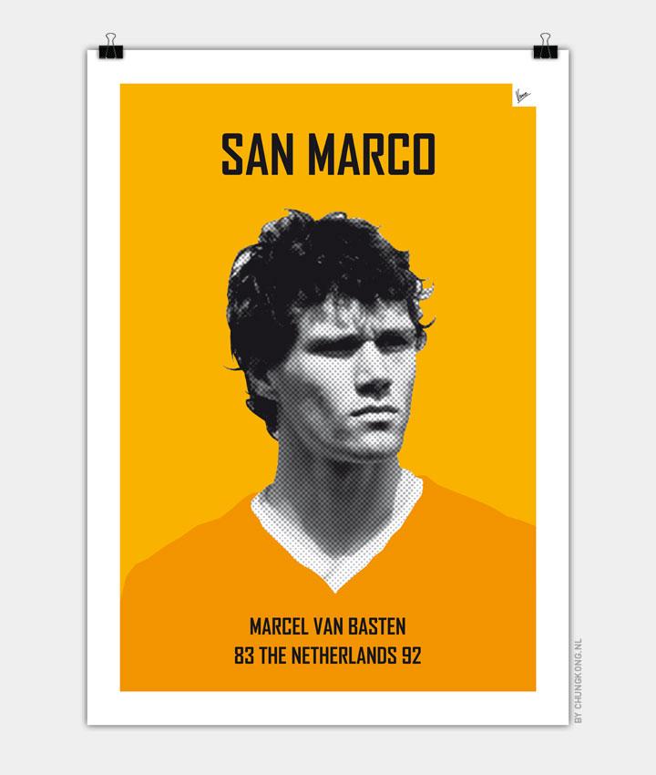 My van Basten soccer legend poster720px