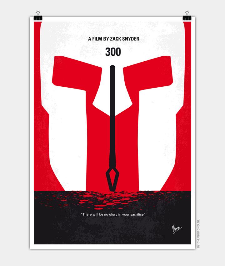 No001 My 300 Minimal Movie Poster