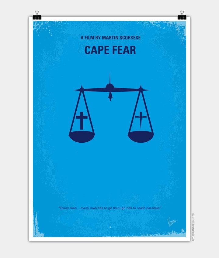 No014 My Cape Fear Minimal Movie Poster Chungkong