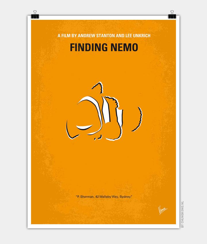 No054 My Finding Nemo minimal movie poster - CHUNGKONG