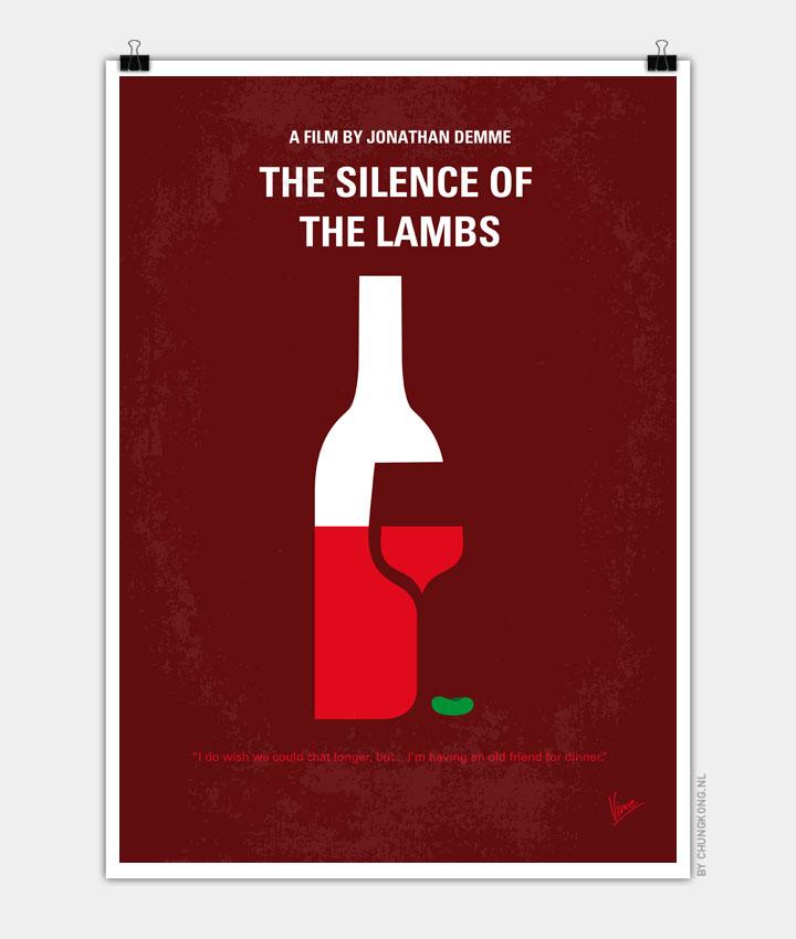 No078 My Silence Of The Lamb Minimal Movie Poster Chungkong