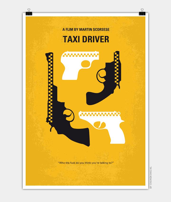 No087 My Taxi Driver minimal movie poster - CHUNGKONG