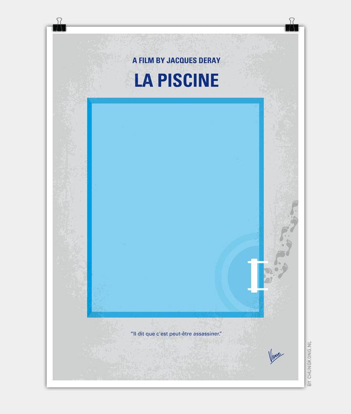 No137 my la piscine minimal movie poster chungkong for La piscine movie