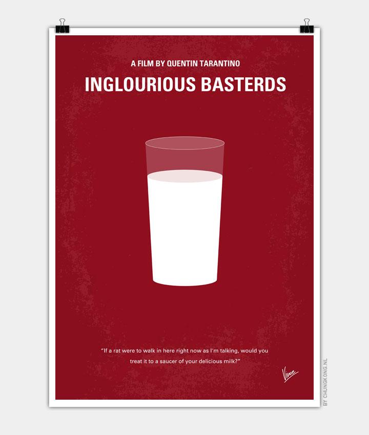 No138 My Inglourious Basterds Minimal Movie Poster Chungkong
