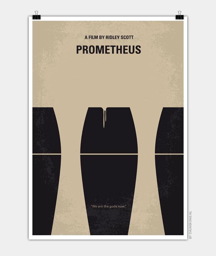 Prometheus Minimal Movie Poster Logo Alien