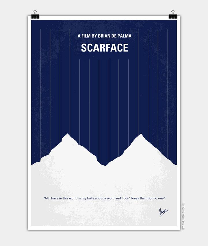 No158 My SCARFACE minimal movie poster - CHUNGKONG