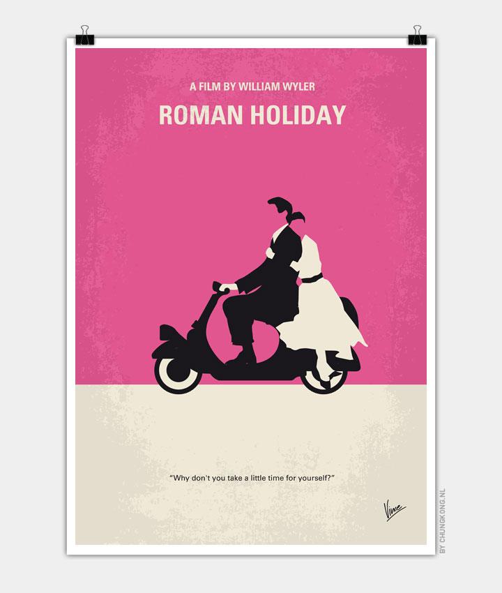 No205 My Roman Holiday Minimal Movie Poster Chungkong