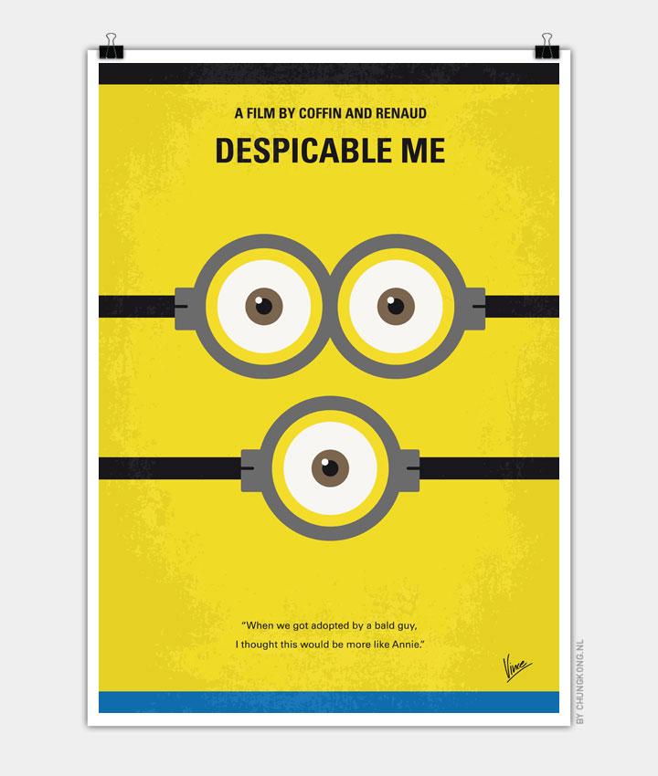No213 My Despicable me minimal movie poster - CHUNGKONG