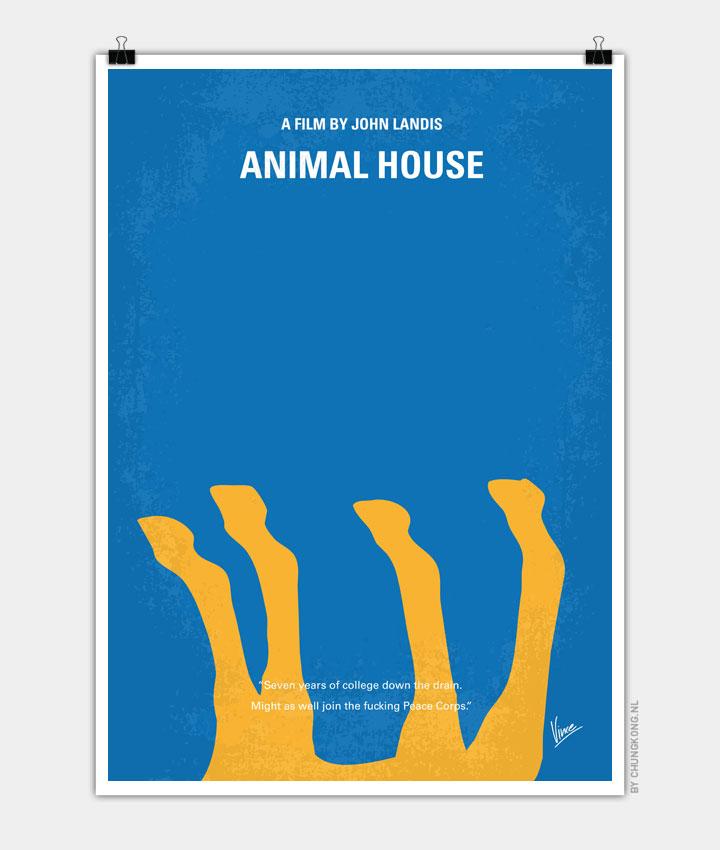 No230 My Animal House minimal movie poster - CHUNGKONG