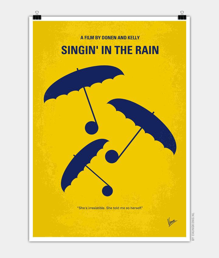 no254 my singin in the rain minimal movie poster chungkong