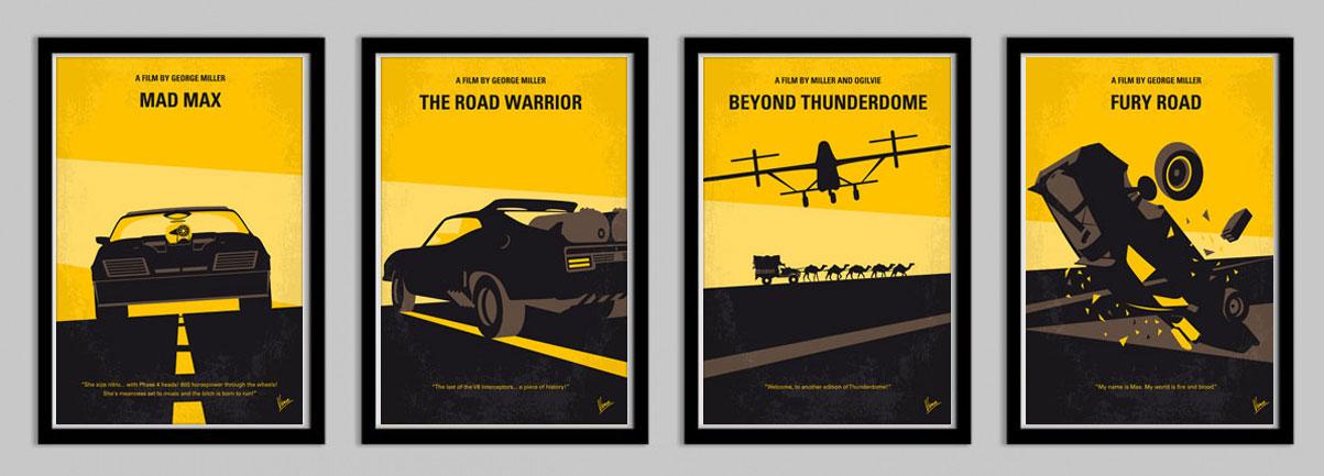 No051 My Mad Max 1 Minimal Movie Poster Chungkong