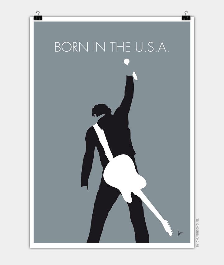 No017 My Bruce Springsteen Minimal Music Poster Chungkong