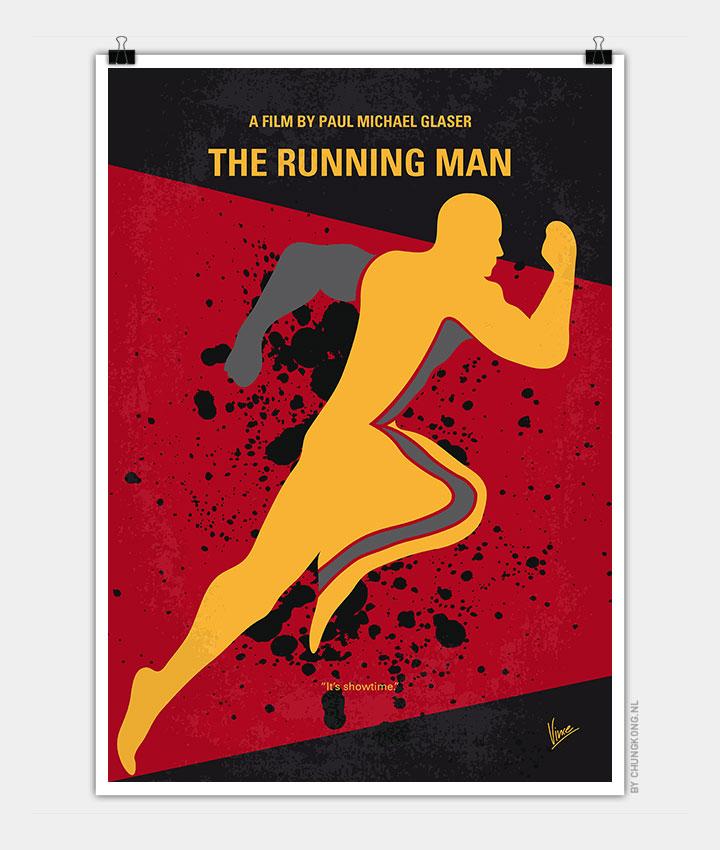 Running man movie poster