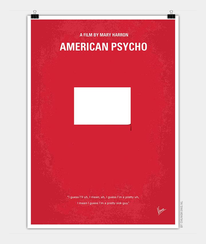 no005 my american psycho minimal movie poster chungkong