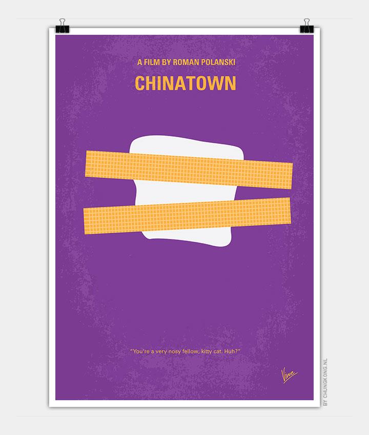 No015 My Chinatown Minimal Movie Poster Chungkong