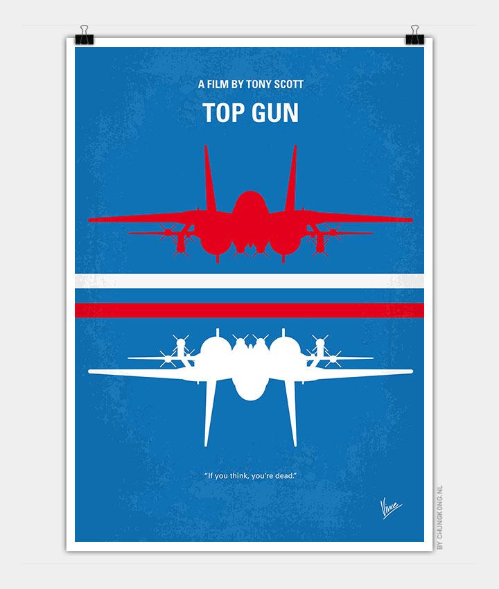No128 My TOP GUN minimal movie poster - CHUNGKONG