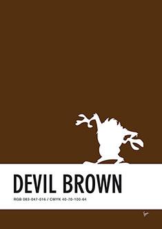no16-my-minimal-color-code-poster-tasmanian-devil-235px