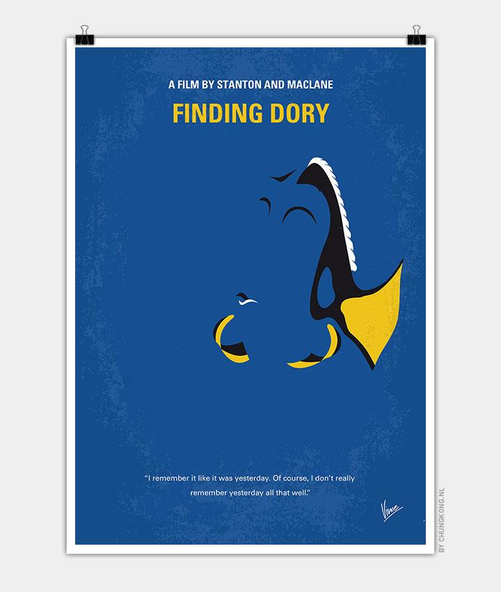 no717 my finding dory minimal movie poster chungkong