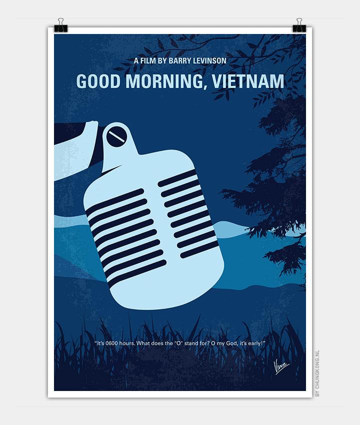 Good Morning Vietnam Theme : No my good morning vietnam minimal movie poster chungkong