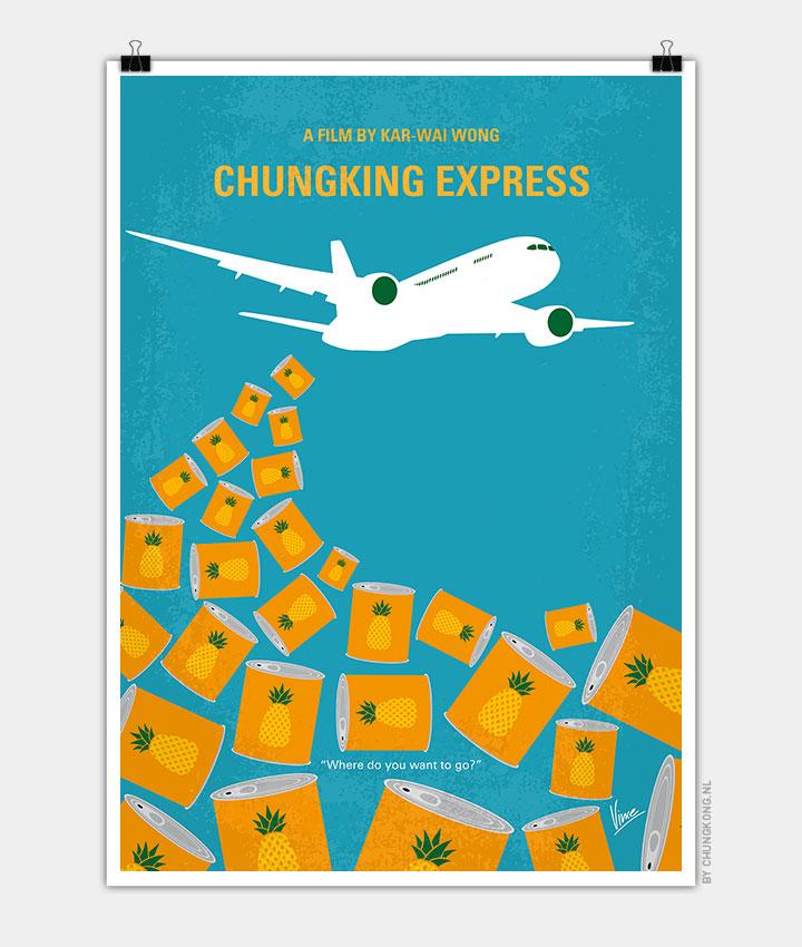 no835 my chungking express minimal movie poster chungkong