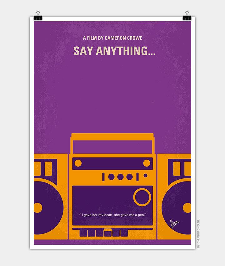 no886 my say anything minimal movie poster chungkong