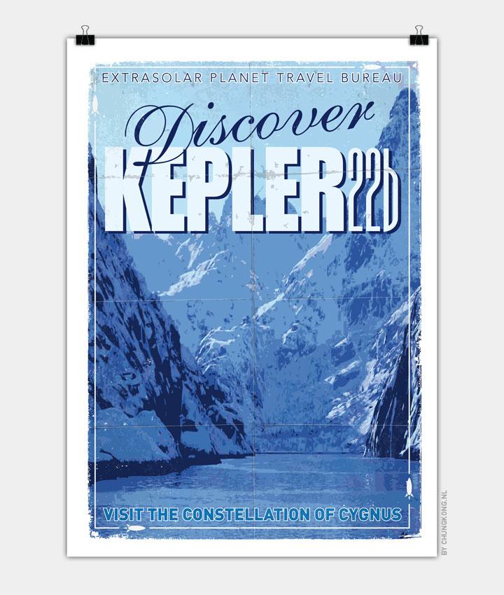 Exoplanet 02 Travel Poster KEPLER 22b 720px