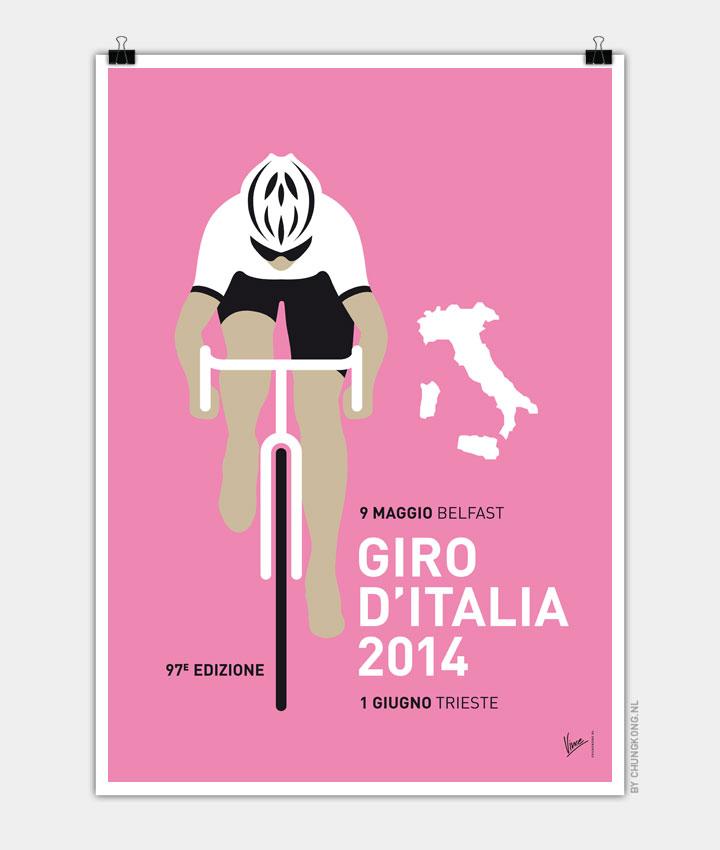 MY GIRO D'ITALIA MINIMAL POSTER 2014 720px