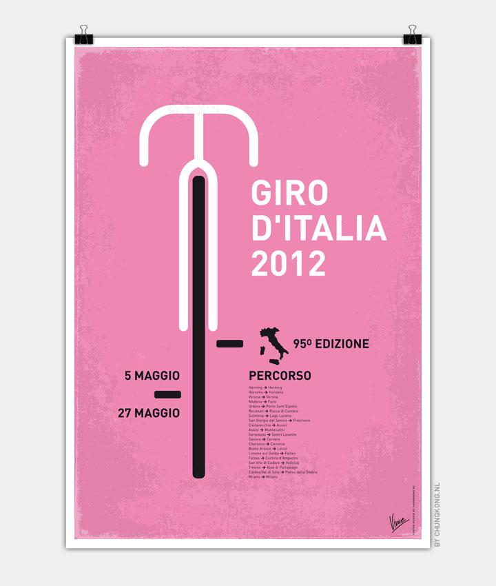 MY GIRO D'ITALIA MINIMAL POSTER 720px