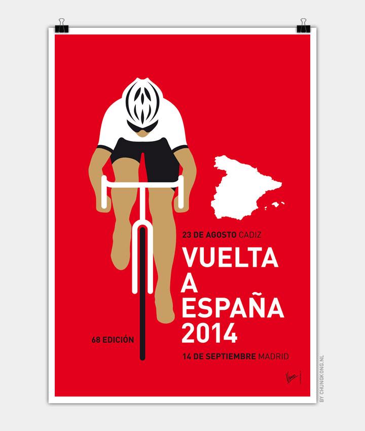 MY VUELTA A ESPANA MINIMAL POSTER 2014 720px