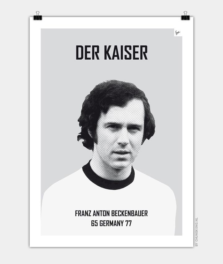 My Beckenbauer soccer legend poster720px