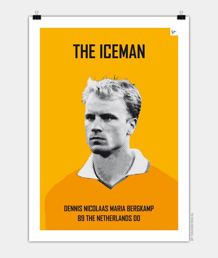 My Bergkamp soccer legend poster720px