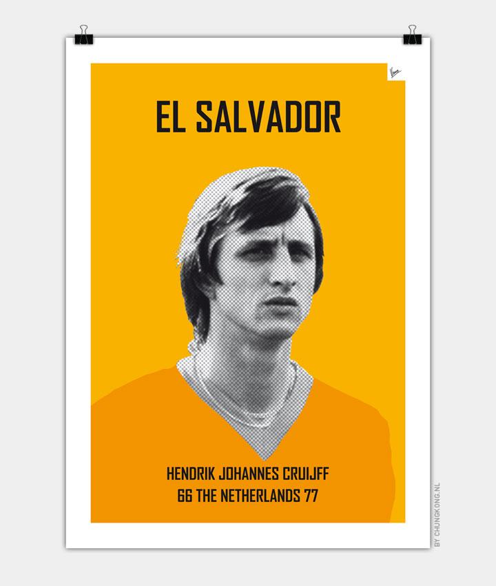 My CRUIJFF soccer legend poster720px