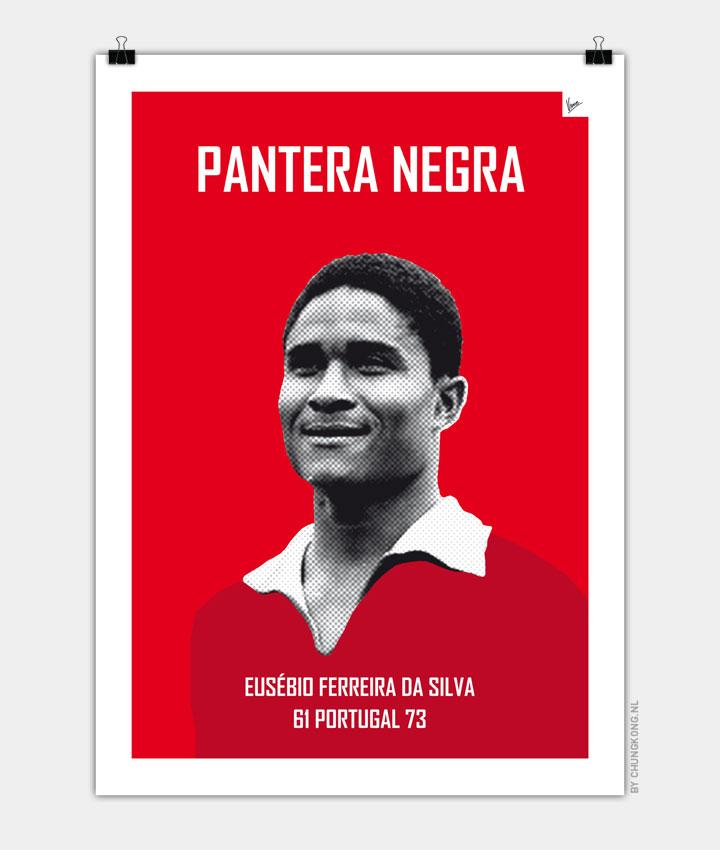 My Eusébio soccer legend poster720px