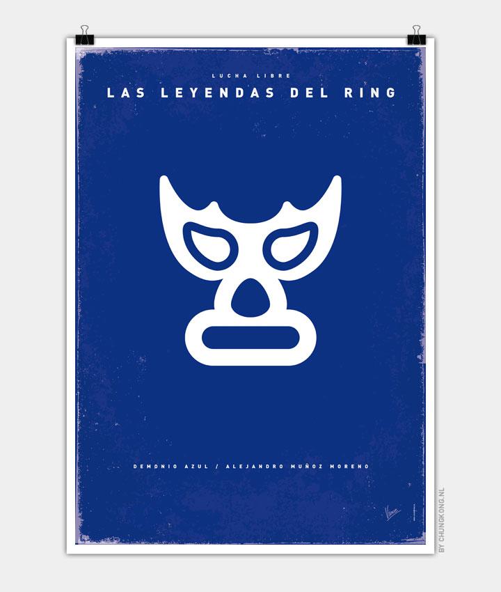 My LAS LEYENDAS DEL RING bluedemon poster 720px