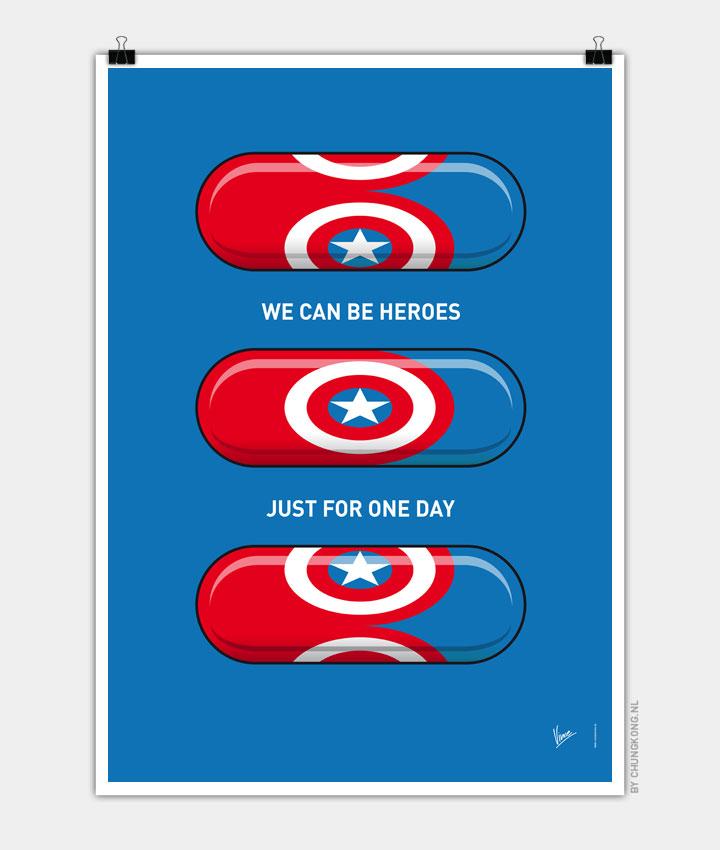 My SUPERHERO PILLS  Captain America 720px