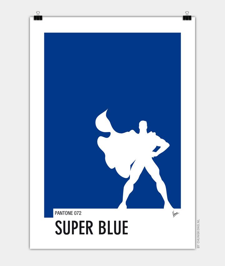 My Superhero 03 SuperBlue Minimal Pantone poster 720px
