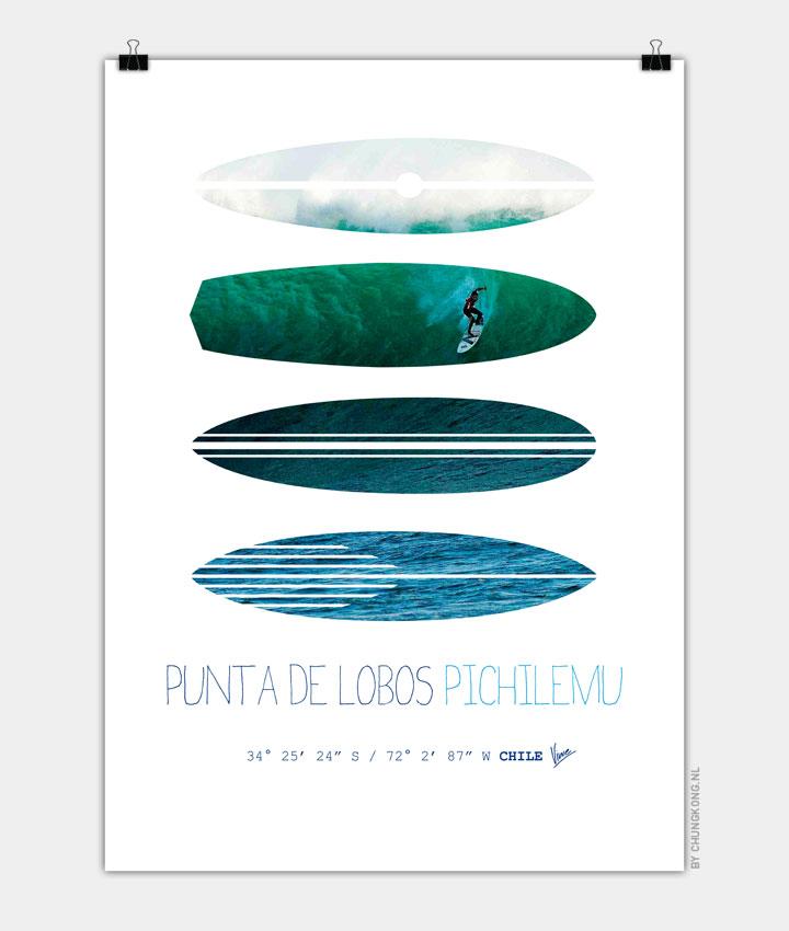 My Surfspots poster 3 Punta de Lobos Chile 720px