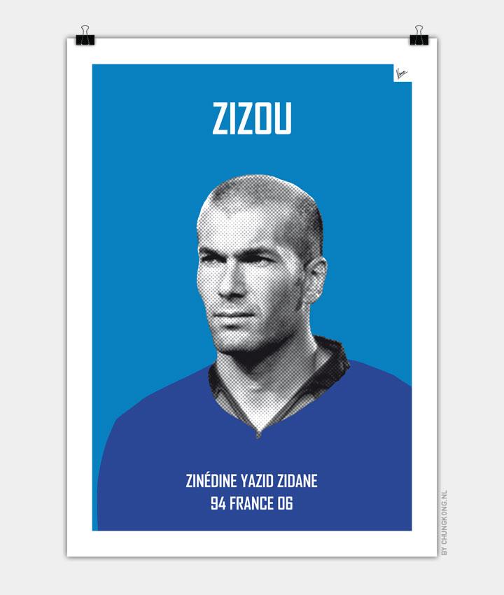 My Zidane soccer legend poster720px