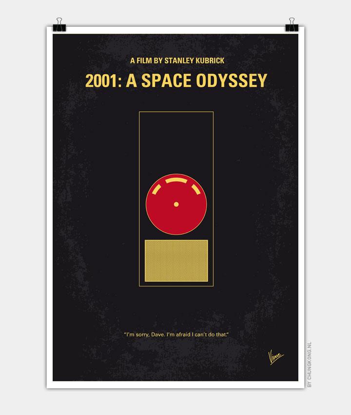 No003 My 2001 A space odyssey 2000 minimal movie poster 720PX