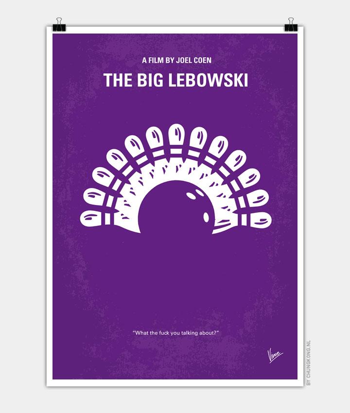 No010 My Big Lebowski minimal movie poster 720px