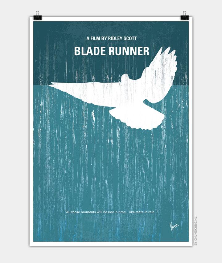 No011 My Blade Runner minimal movie poster 720px